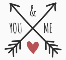 Cute Arrows and Heart Design You & Me  by Iveta Angelova