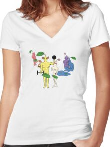 PikPEOPLE Women's Fitted V-Neck T-Shirt