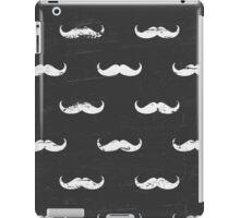 Chalkboard Mustache Pattern iPad Case/Skin