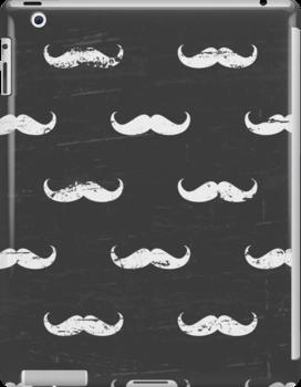Chalkboard Mustache Pattern by Iveta Angelova