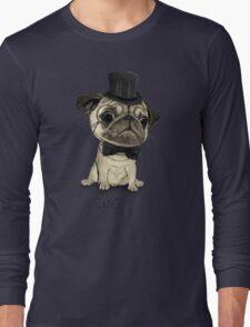 Pug; Gentle Pug (v3) Long Sleeve T-Shirt