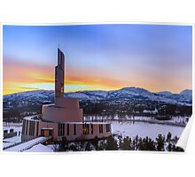 Alta's Northern Lights Catherdral, Norway Poster