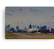 Take off from London Canvas Print
