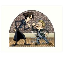 Sherlock analyzes Watson Art Print