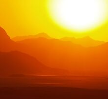 sunset wadi rum desert in Jordan by wasootch