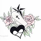 coffin and rose tattoo design by Perggals© - Stacey Turner