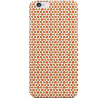 Orange Kitsch stars and spots pattern iPhone Case/Skin