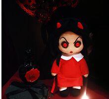 Sinderella the Sweet Dark Gothic Devilish Doll Phone Case by ARTificiaLondon