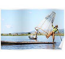 inle lake fisherman Poster
