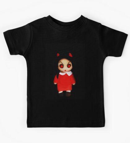Sinderella the Cute Devilish Dark Gothic Doll  Kids Tee