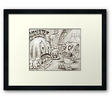Monster Cheese Framed Print