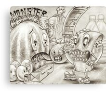 Monster Cheese Canvas Print
