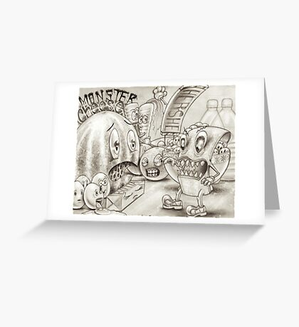 Monster Cheese Greeting Card