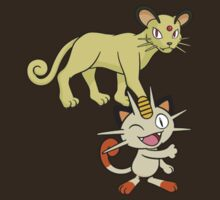 Meowth and Persian DW by Stephen Dwyer