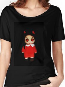 Sinderella the Cute Devilish Dark Gothic Doll  Women's Relaxed Fit T-Shirt
