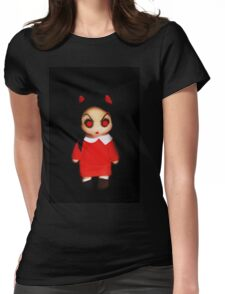 Sinderella the Cute Devilish Dark Gothic Doll  Womens Fitted T-Shirt