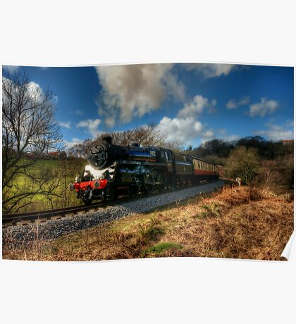 Approaching Grosmont Poster