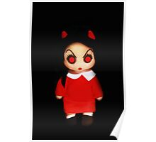 Sinderella Sweet Scary Devilish Gothic Doll in a Red Dress  Poster