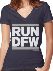 Run Dallas-Ft. Worth DFW (v2) Women's Fitted V-Neck T-Shirt