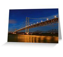 Forth Road and Rail Bridges Greeting Card