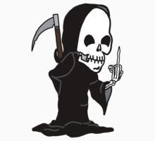 Grim Reaper Giving the Finger by imphavok