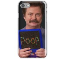 Ron Swanson - Poop iPhone Case/Skin