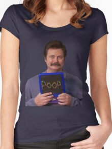 Ron Swanson - Poop Women's Fitted Scoop T-Shirt