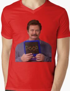 Ron Swanson - Poop Mens V-Neck T-Shirt