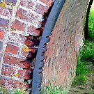 Marks left from a time gone era ...........Canal bridge ! by Roy  Massicks