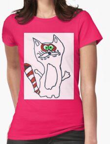 Mr Raccoon the Cool Cartoon Comic Friend Womens Fitted T-Shirt