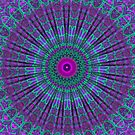 Purple Inspire mandala  by Vicki Field