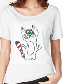 Mr Raccoon the Cool Cartoon Comic Friend Women's Relaxed Fit T-Shirt