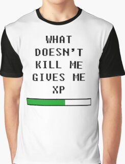 What doesn't kill me, gives me xp (black) Graphic T-Shirt