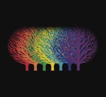 Rainbow Trees One Piece - Short Sleeve