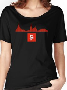 Monstercat Visualizer - DnB Red Women's Relaxed Fit T-Shirt