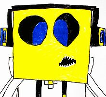 Respect the Genius Funny Computer Cartoon Comic Dude  by ARTificiaLondon
