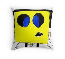 Respect the Genius Funny Computer Cartoon Comic Dude  Throw Pillow