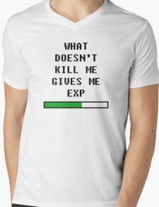 What doesn't kill me, gives me exp (black) Mens V-Neck T-Shirt