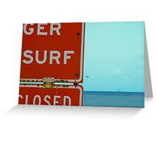 Surf in Southern California Greeting Card