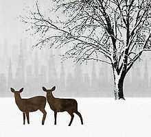 Winter Scene by Janet Carlson