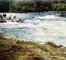 Running the White Horse Rapids in a scow. by Friday501