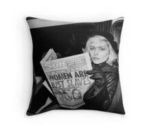 Blondie - Women are just slaves Throw Pillow