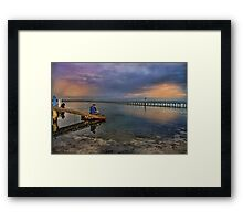 Valentines Day - watching the sunset Framed Print