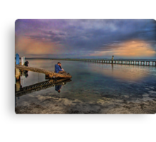 Valentines Day - watching the sunset Canvas Print