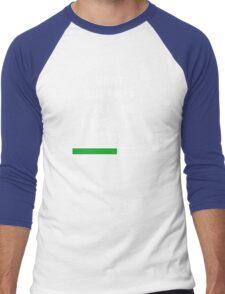 What doesn't kill me, gives me exp (white) Men's Baseball ¾ T-Shirt