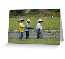 Planting Rice Greeting Card