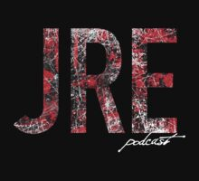 JRE Red Scratch on Dark Shirt - Joe Rogan Experience by Montia Garcia