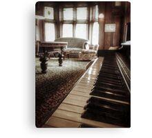 The Professor's Piano Canvas Print