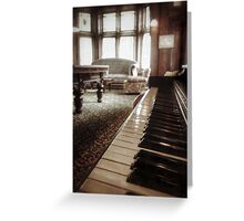 The Professor's Piano Greeting Card
