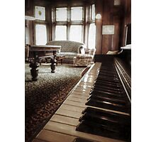 The Professor's Piano Photographic Print